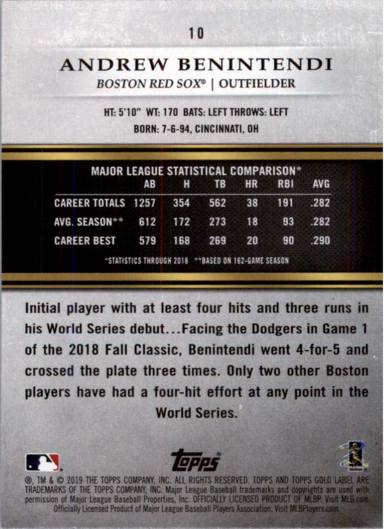 2019-Topps-Gold-Label-Class-2-Baseball-Card-Pick thumbnail 9