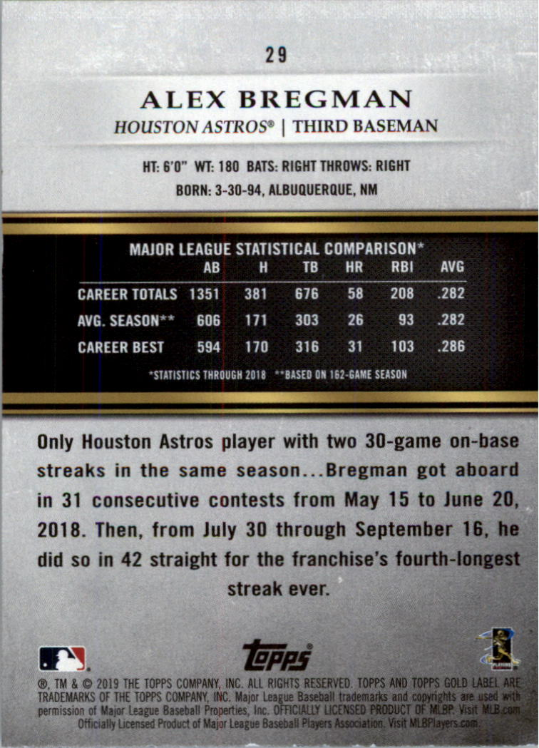 2019-Topps-Oro-Etichetta-Classe-2-Baseball-Scheda-Scegliere miniatura 39