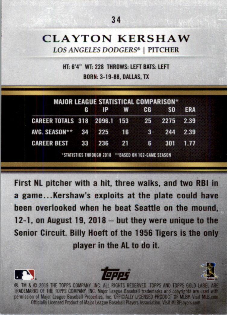 2019-Topps-Gold-Label-Class-2-Baseball-Card-Pick thumbnail 47