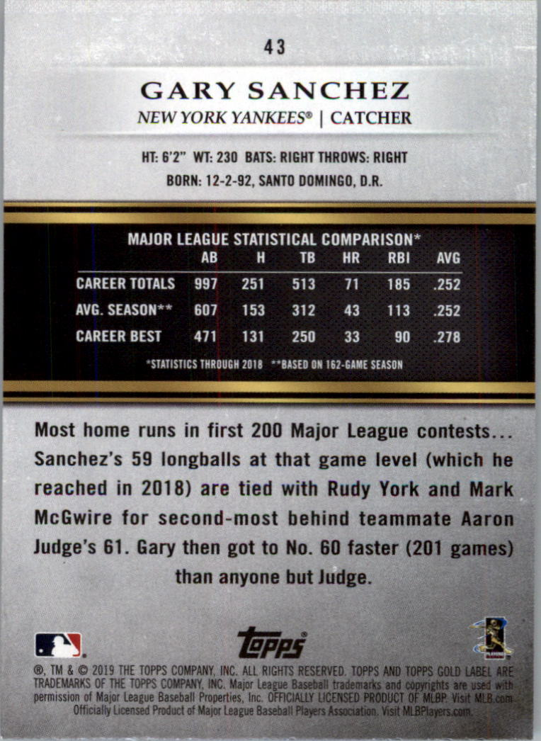 2019-Topps-Gold-Label-Class-2-Baseball-Card-Pick thumbnail 61