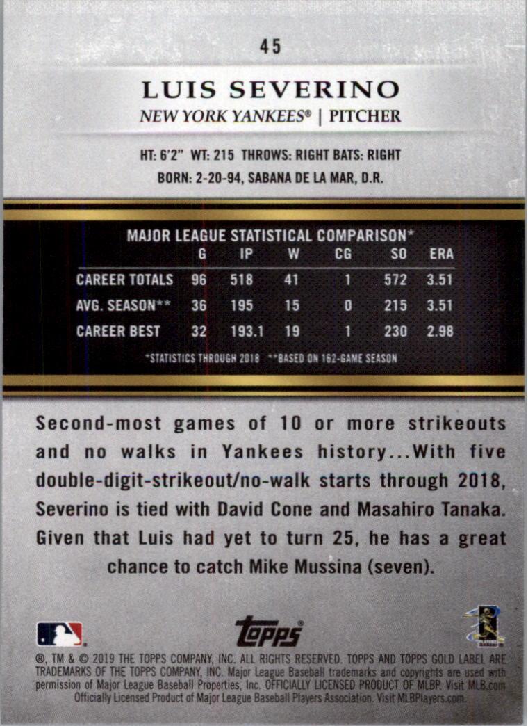 2019-Topps-Oro-Etichetta-Classe-2-Baseball-Scheda-Scegliere miniatura 61