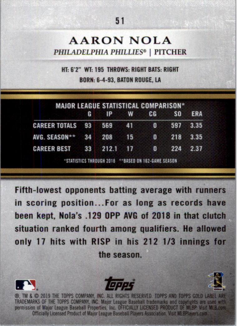 2019-Topps-Gold-Label-Class-2-Baseball-Card-Pick thumbnail 71