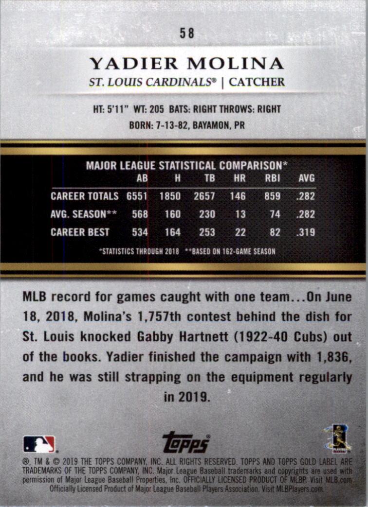 2019-Topps-Oro-Etichetta-Classe-2-Baseball-Scheda-Scegliere miniatura 73