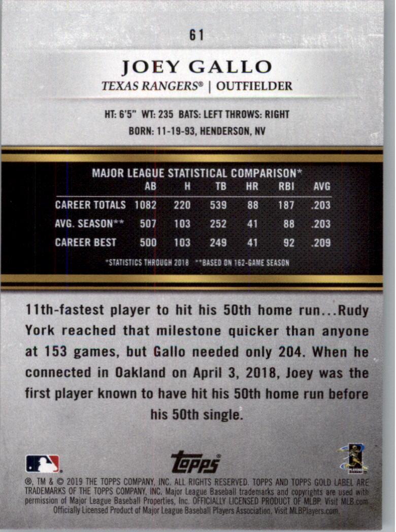 2019-Topps-Gold-Label-Class-2-Baseball-Card-Pick thumbnail 79