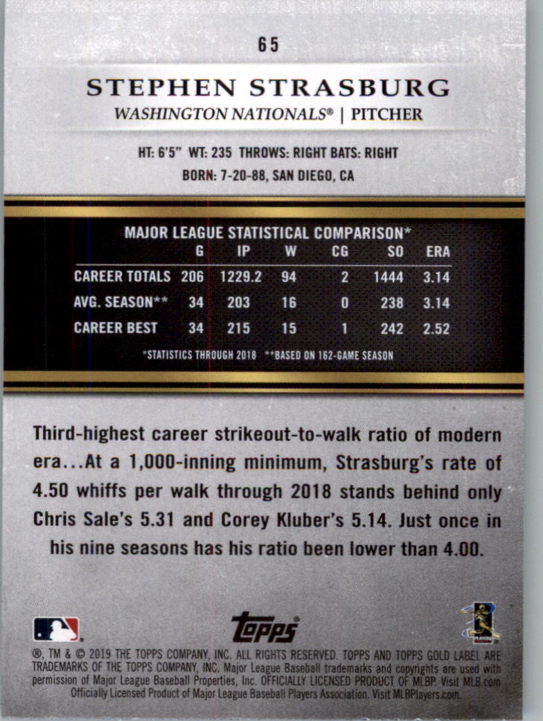 2019-Topps-Oro-Etichetta-Classe-2-Baseball-Scheda-Scegliere miniatura 83