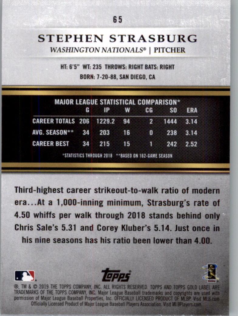 2019-Topps-Gold-Label-Class-2-Baseball-Card-Pick thumbnail 85
