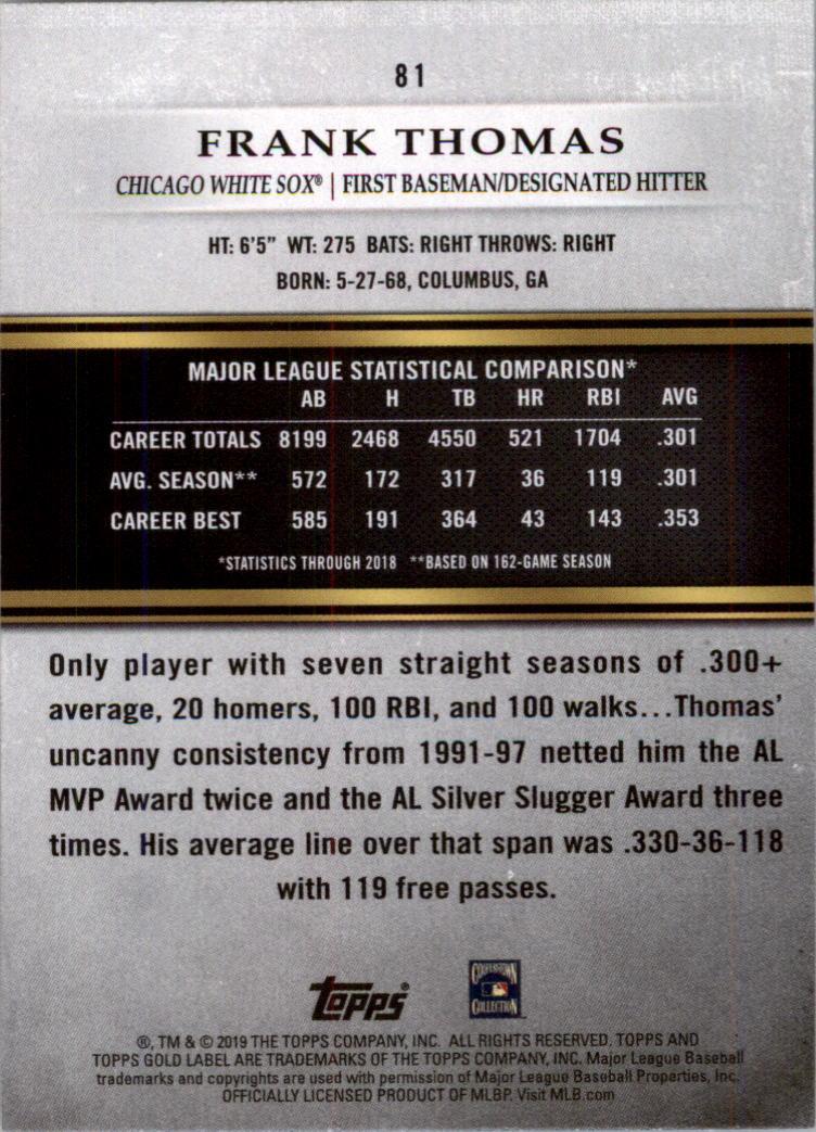 2019-Topps-Oro-Etichetta-Classe-2-Baseball-Scheda-Scegliere miniatura 105