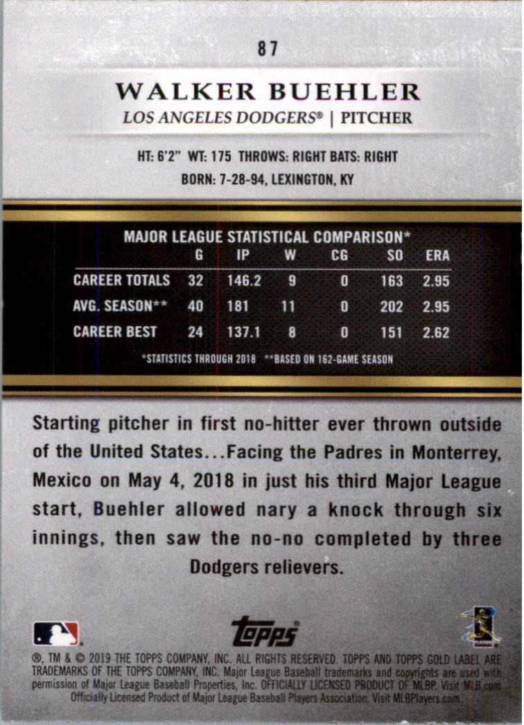 2019-Topps-Gold-Label-Class-2-Baseball-Card-Pick thumbnail 121