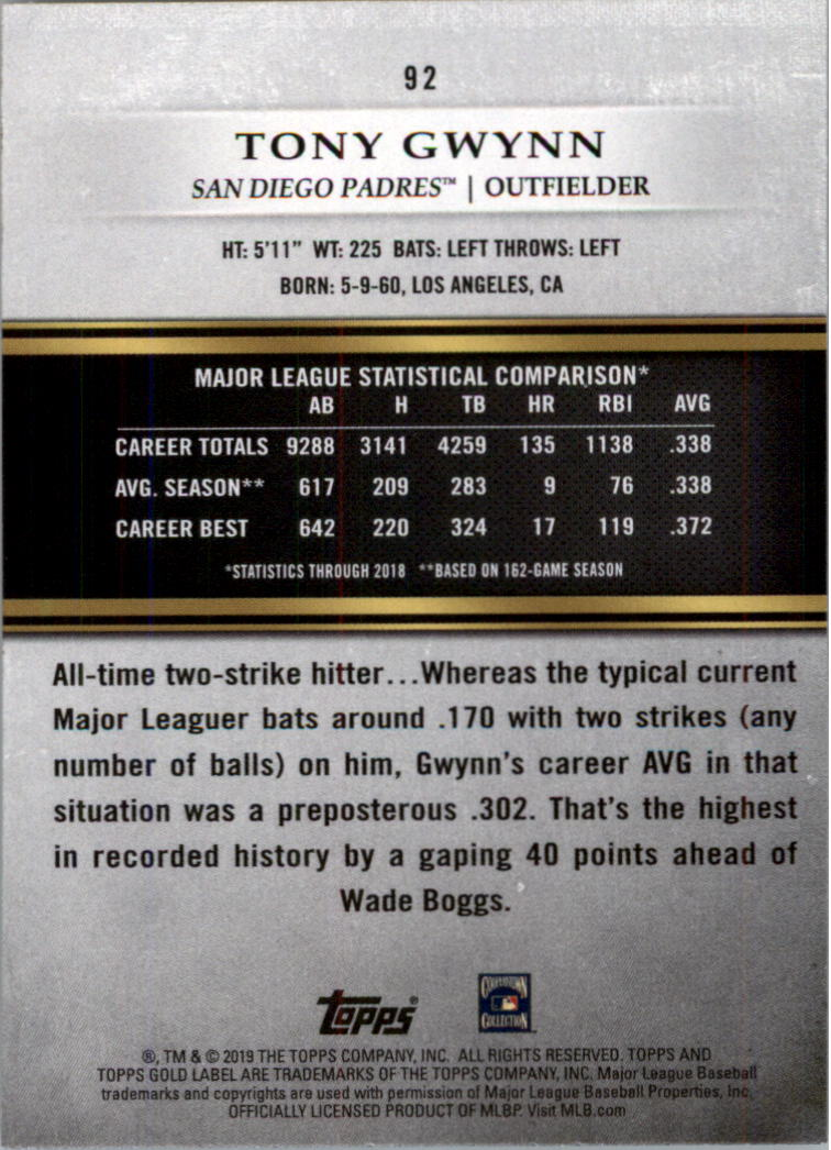 2019-Topps-Oro-Etichetta-Classe-2-Baseball-Scheda-Scegliere miniatura 125
