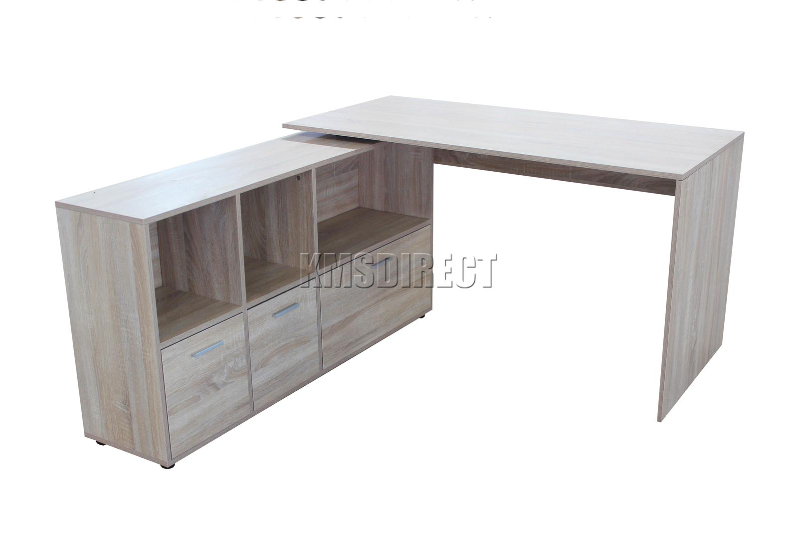 Scrivania Angolo Computer : Westwood computer pc scrivania angolare in legno da tavolo