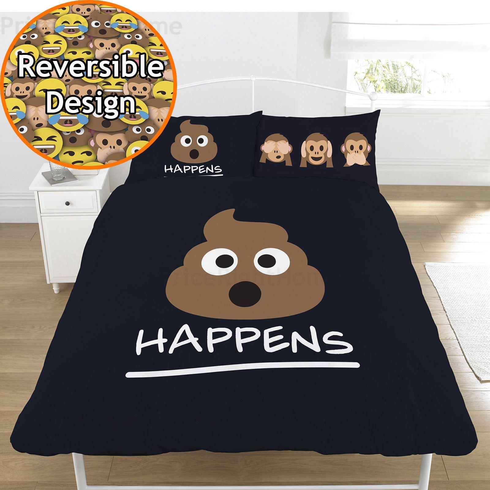 emoji bettbezug sets einzel doppel lustig smiley weihnachten bettw sche ebay. Black Bedroom Furniture Sets. Home Design Ideas