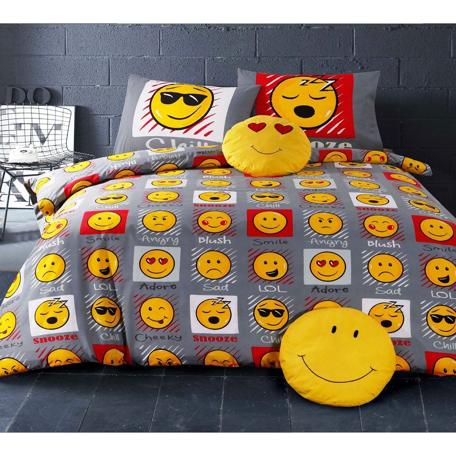 EMOJI DUVET COVER SETS SINGLE & DOUBLE - FUNNY SMILEY CHRISTMAS ...