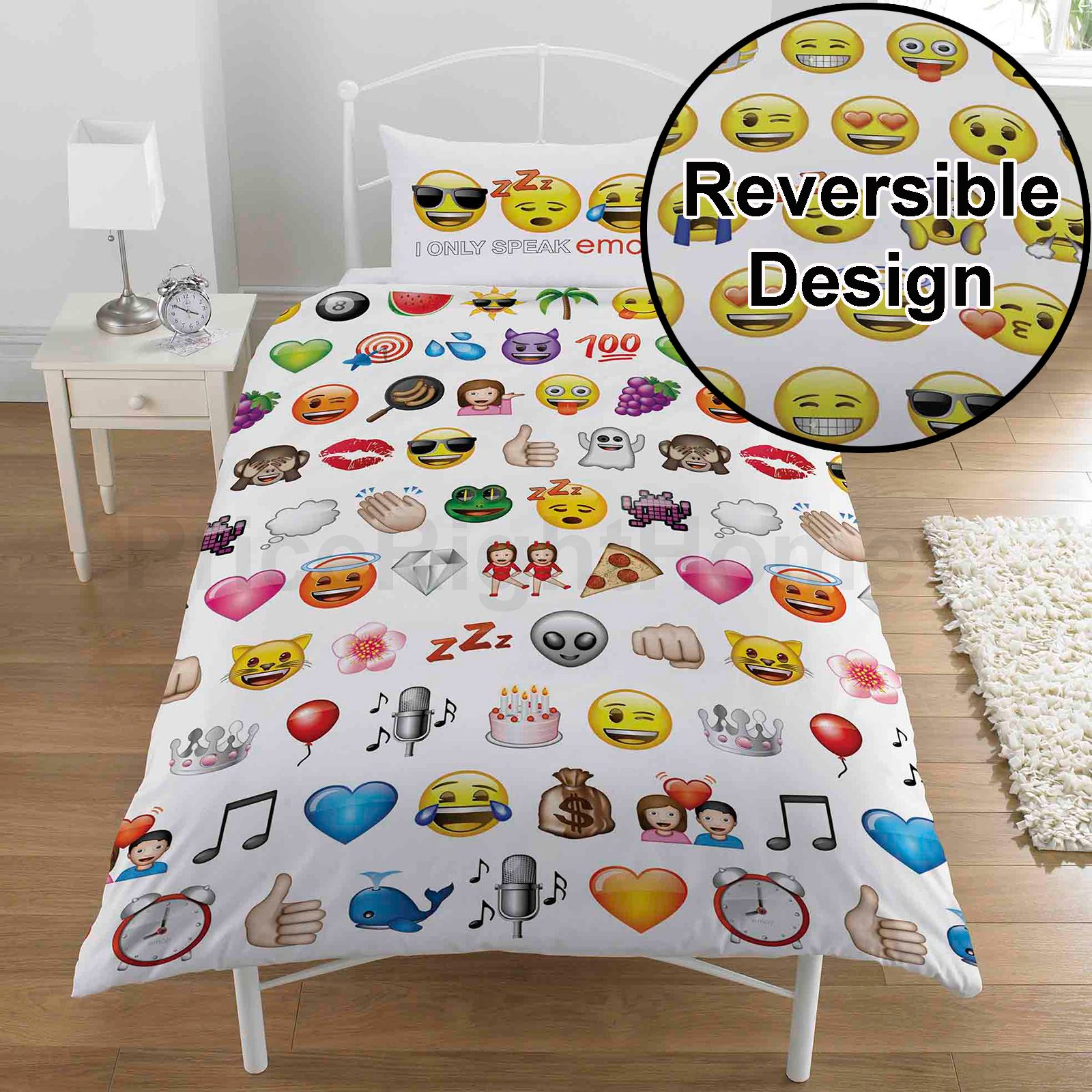 emoji bettbezug sets einzel doppel erh ltlich lustig smiley bettw sche ebay. Black Bedroom Furniture Sets. Home Design Ideas