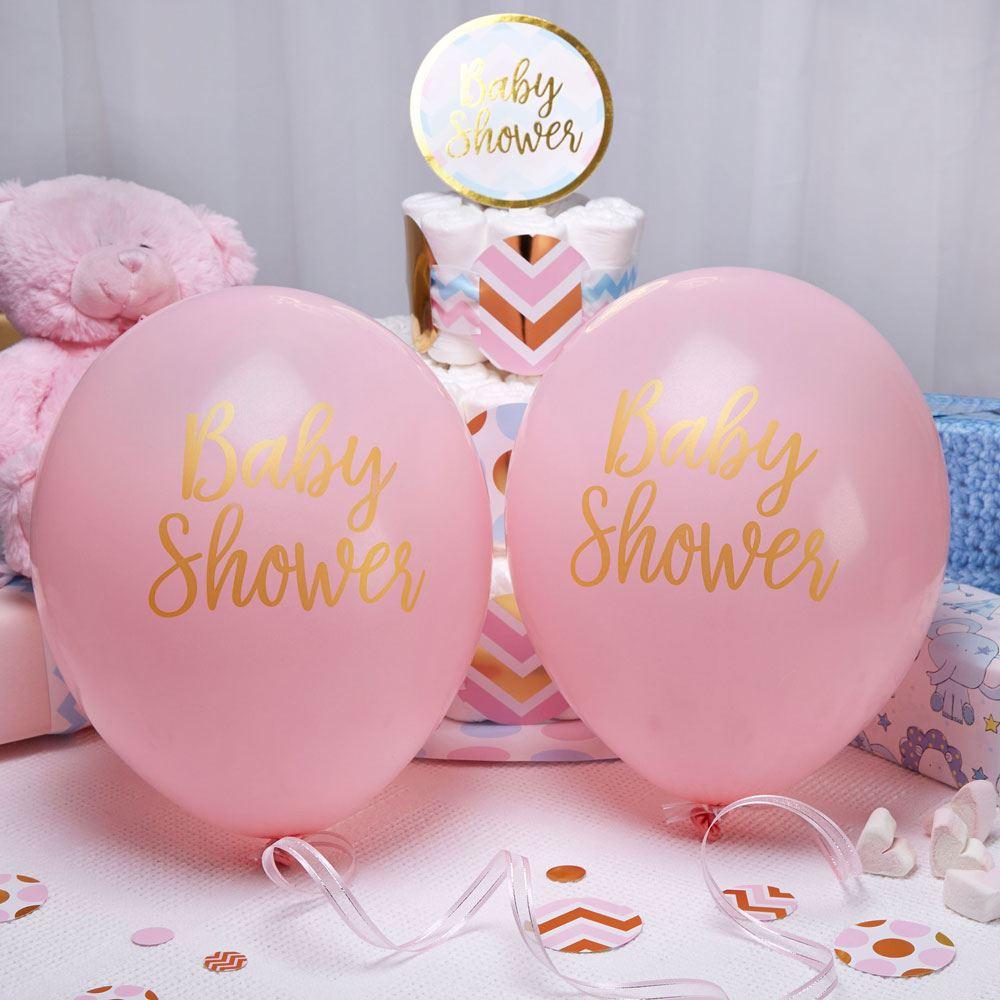 rose-bapteme-Decorations-filles-Fournitures-de-fetes-soiree-Ballons-confettis