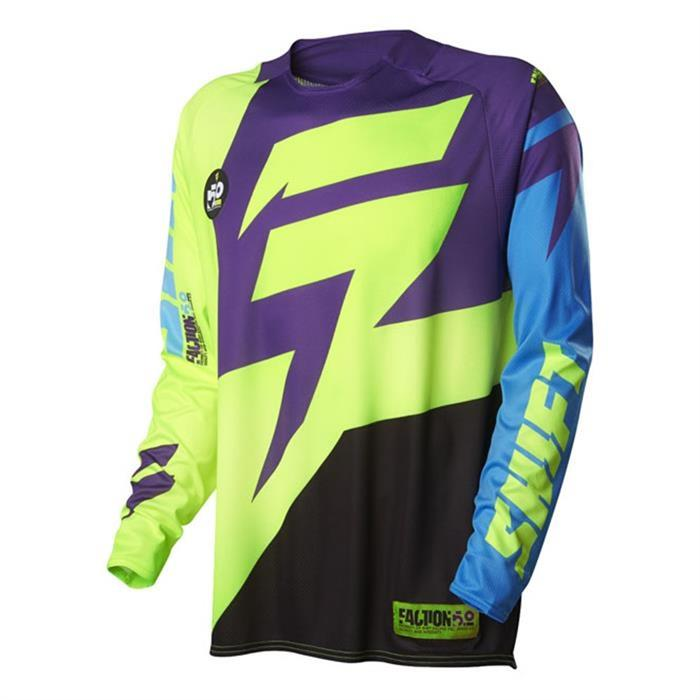 SHIFT-MX-2016-Motocross-Mtb-Jersey-Faction-lila-gelb-MOTOCROSS-ENDURO-Mx-CRO