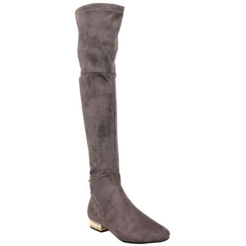 Ladies Boots Womens Long Over The Knee shoes Suede Look Fleece Lined Winter New