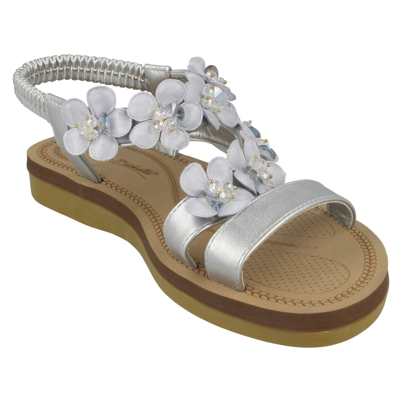 Ladies-Anne-Michelle-Synthetic-Flower-Trim-Sandals