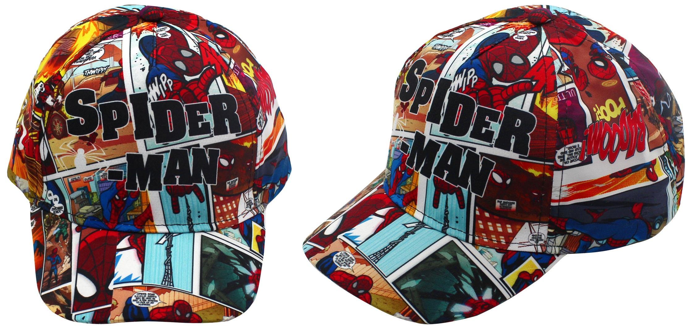 Spiderman-Bonnet-pour-Enfants-Multicolore-et-Bleu-Casquette-Baseball-Cappy
