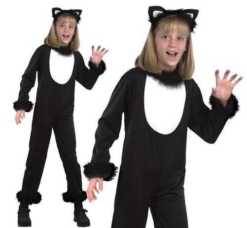 Bambini-Gatto-Nero-Costume-Strega-Outfit-Da-Halloween-Bambini-3-13-Anni