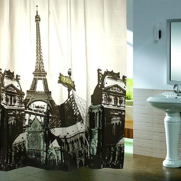 mehrere stil duschvorhang polyester mit haken ebay. Black Bedroom Furniture Sets. Home Design Ideas