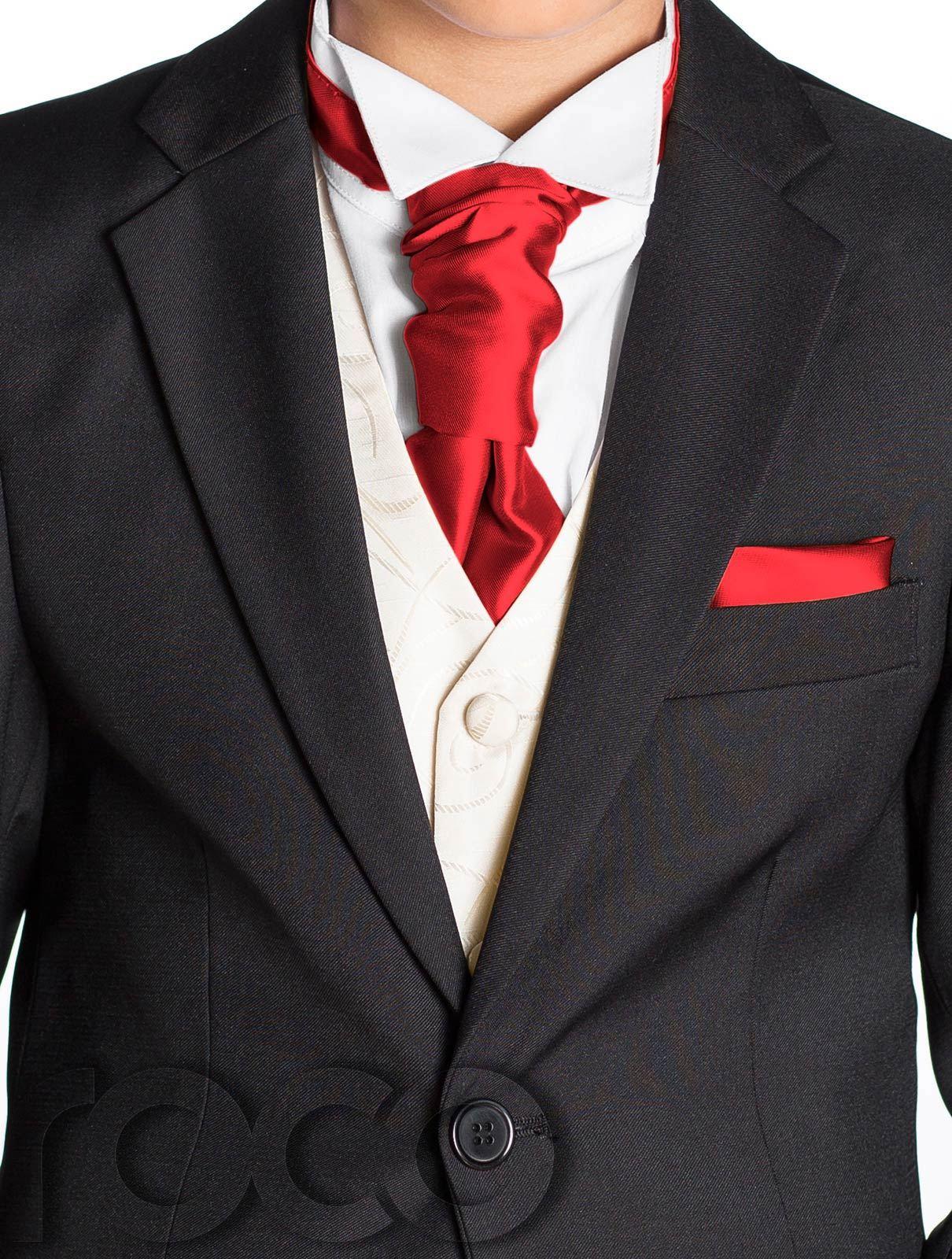 Boys Black Suit, Boys Cravat & Pocket Square, Page Boy Suits, Boys ...