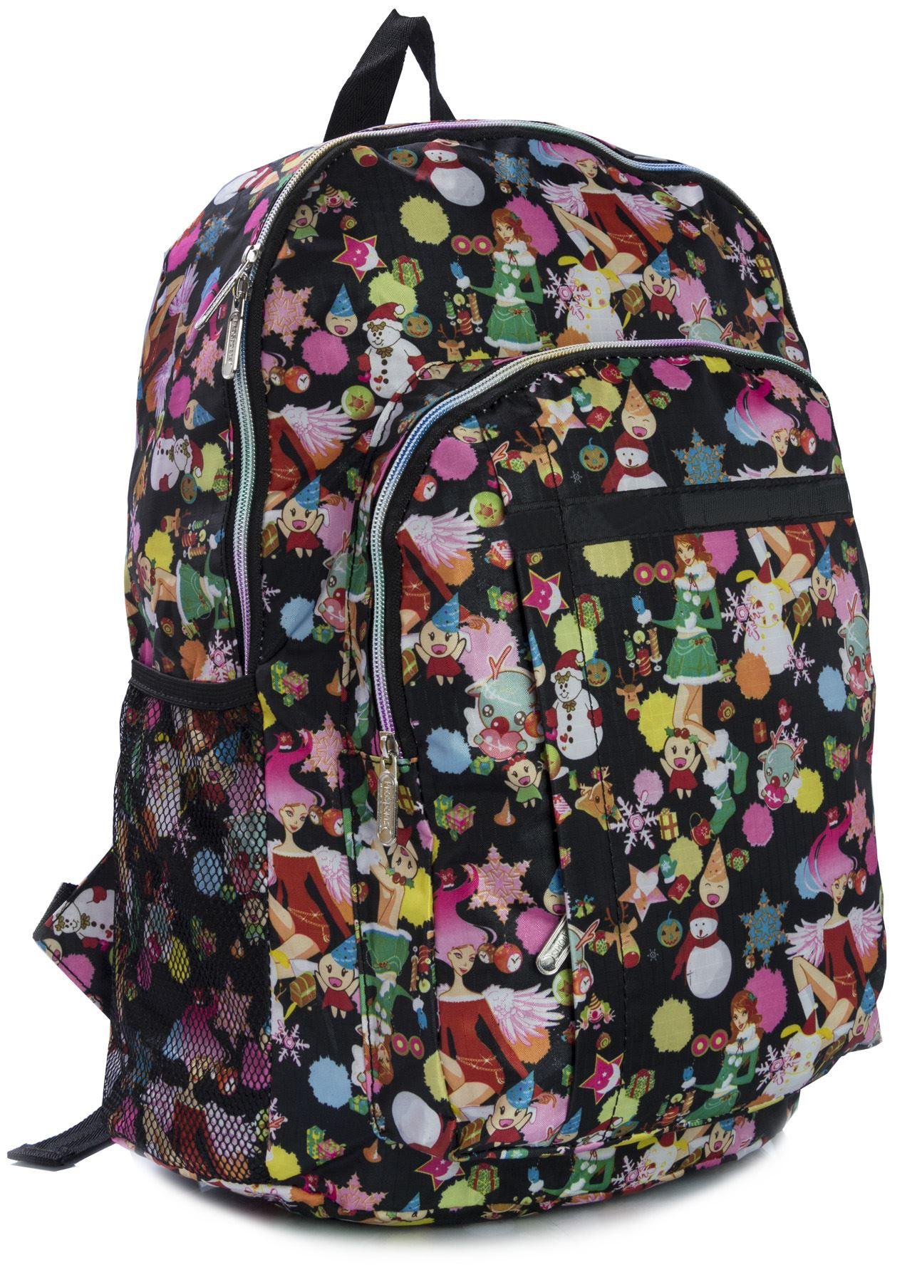 Big Handbag Shop UNISEX Taschen mit Reißverschluss Cartoon leicht groß Rucksack