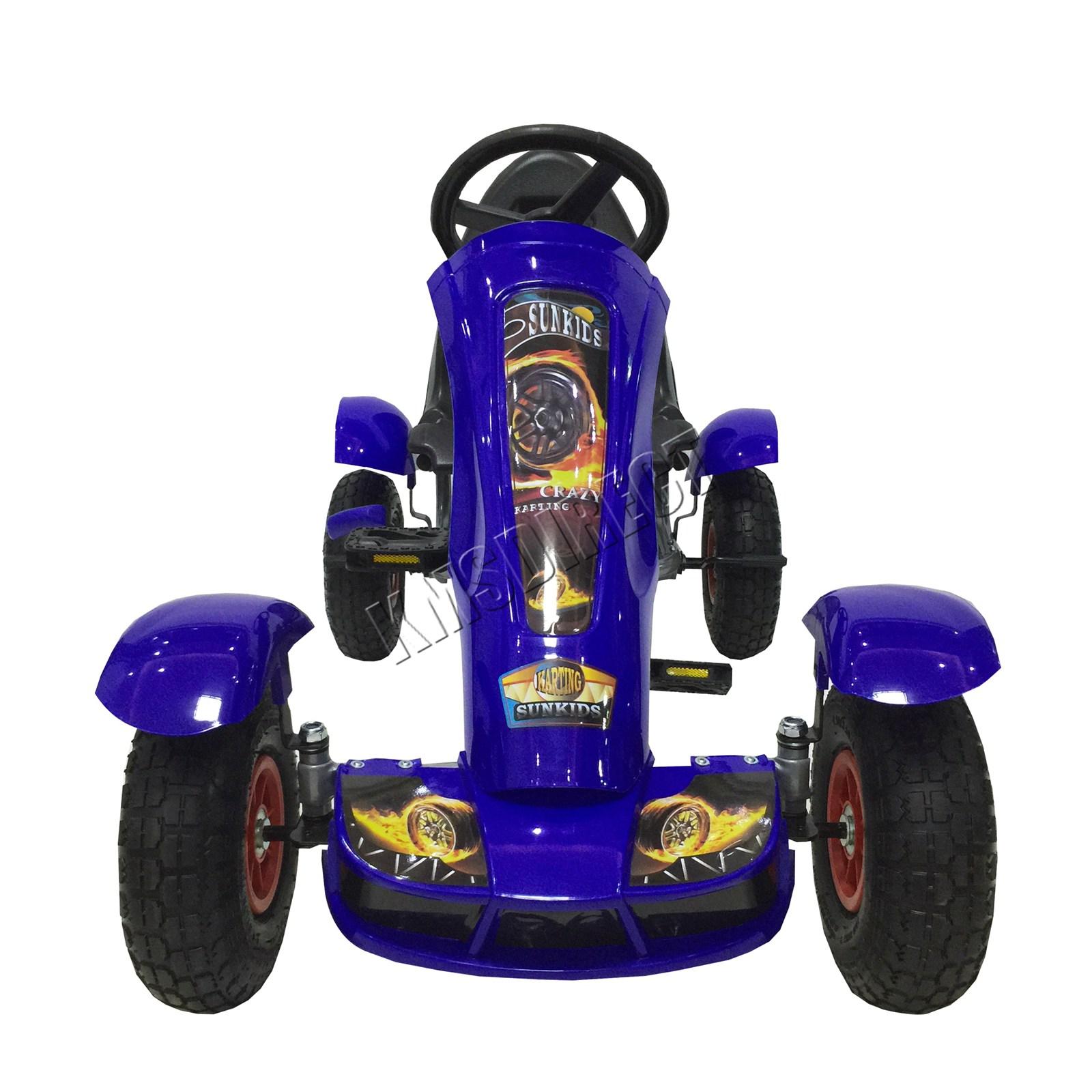 201701719267 2475 I 252 19 GOKART FH G03 BLUE KMSWM022 - Foxhunter Infantil Go Kart – Pedal Coche para Niños Gocart con Freno de Mano G03