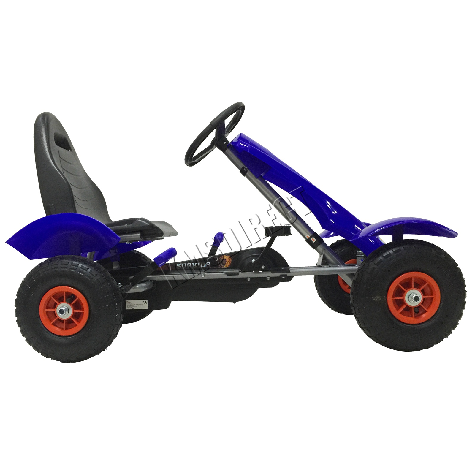 201701719267 2475 I 252 19 GOKART FH G03 BLUE KMSWM033 - Foxhunter Infantil Go Kart – Pedal Coche para Niños Gocart con Freno de Mano G03