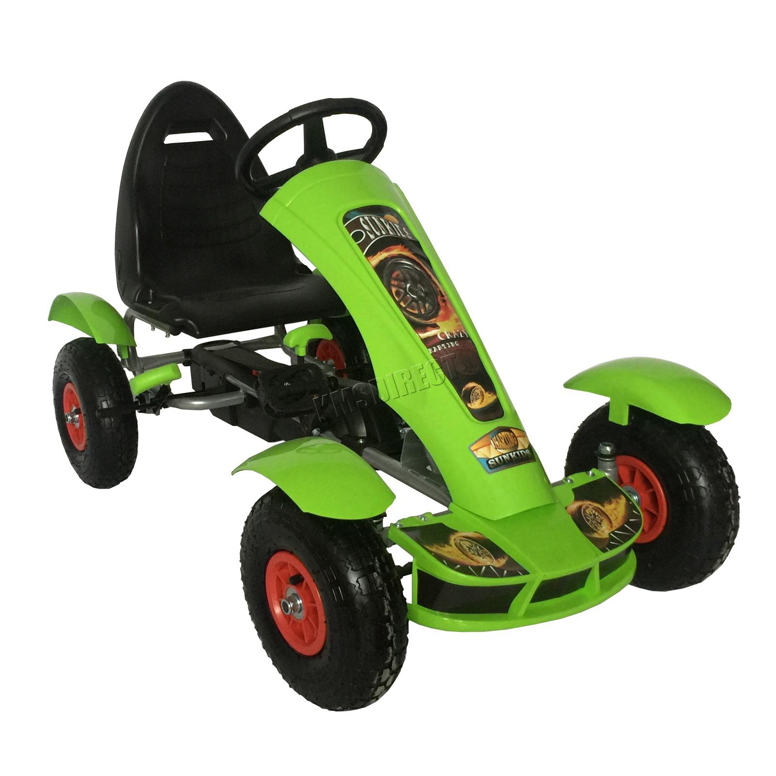 201701719267 2475 I 276 27 GOKART FH G03 GREEN KMSWM033 - Foxhunter Infantil Go Kart – Pedal Coche para Niños Gocart con Freno de Mano G03