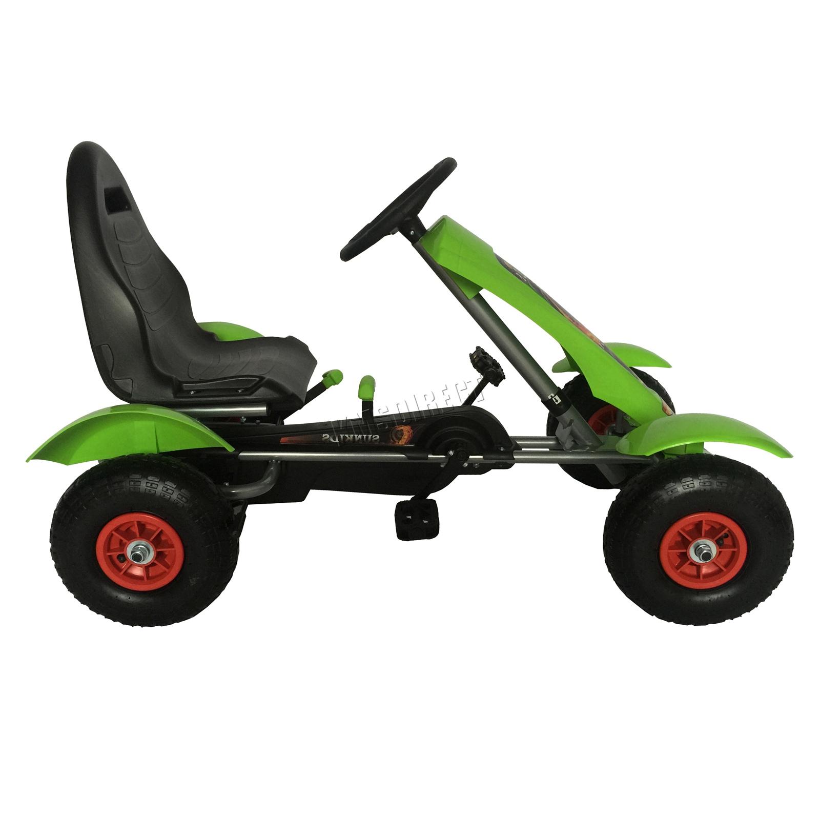 201701719267 2475 I 276 27 GOKART FH G03 GREEN KMSWM044 - Foxhunter Infantil Go Kart – Pedal Coche para Niños Gocart con Freno de Mano G03
