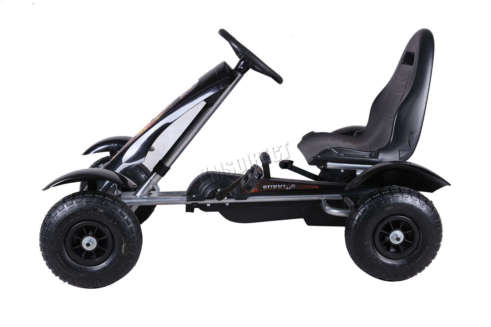 201701719267 2475 I 305 25 GOKART FH G03 BLACK KMSWM022 - Foxhunter Infantil Go Kart – Pedal Coche para Niños Gocart con Freno de Mano G03