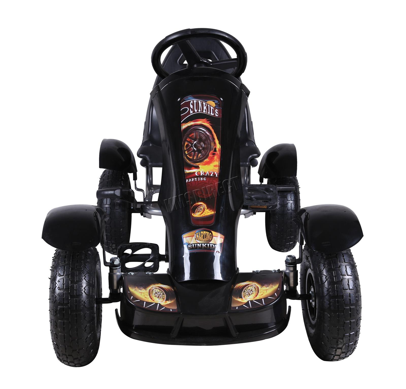 201701719267 2475 I 305 25 GOKART FH G03 BLACK KMSWM033 - Foxhunter Infantil Go Kart – Pedal Coche para Niños Gocart con Freno de Mano G03