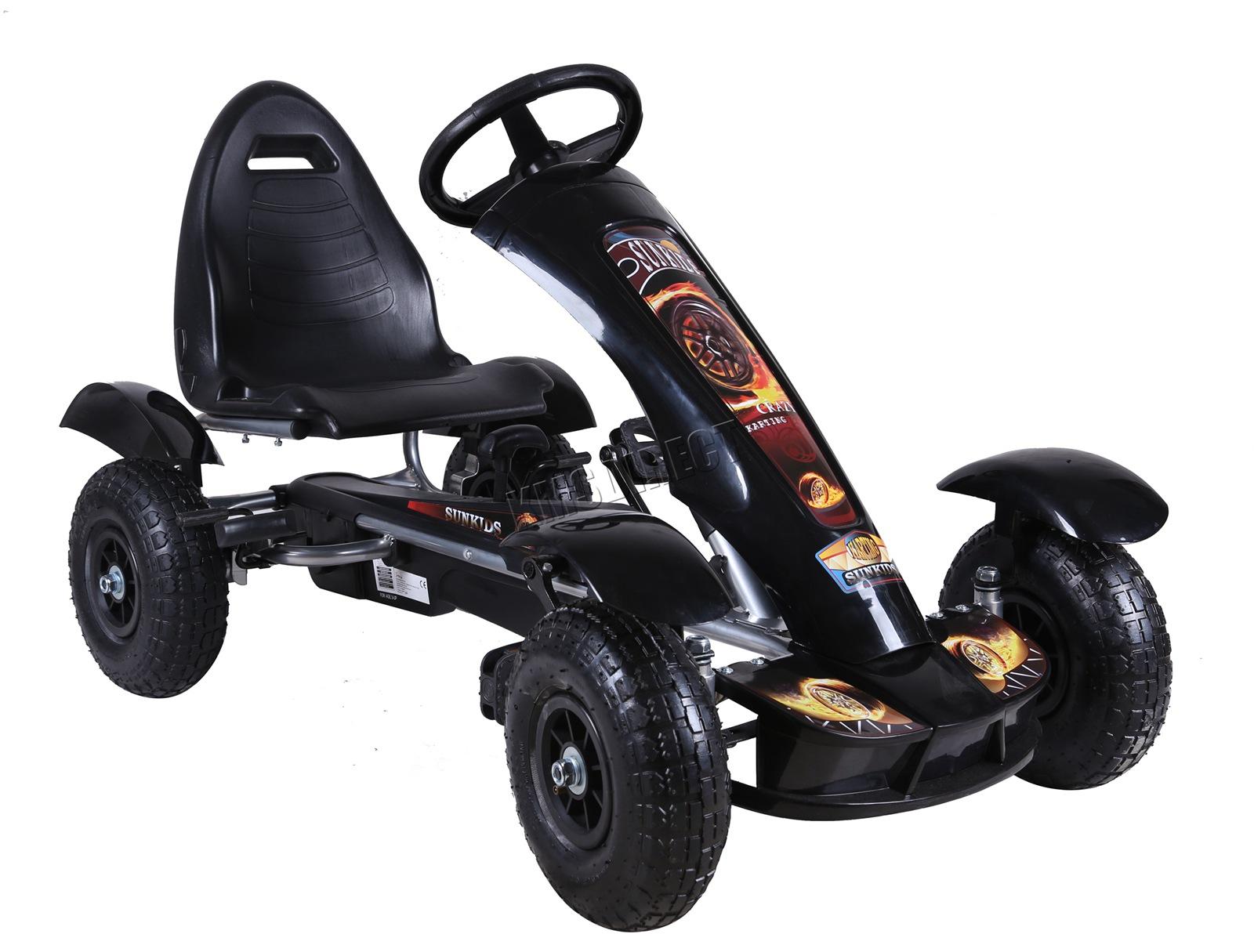 201701719267 2475 I 305 25 GOKART FH G03 BLACK KMSWM055 - Foxhunter Infantil Go Kart – Pedal Coche para Niños Gocart con Freno de Mano G03