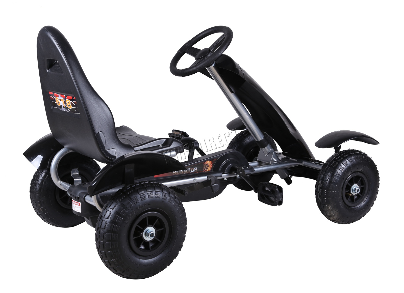 201701719267 2475 I 305 25 GOKART FH G03 BLACK KMSWM066 - Foxhunter Infantil Go Kart – Pedal Coche para Niños Gocart con Freno de Mano G03
