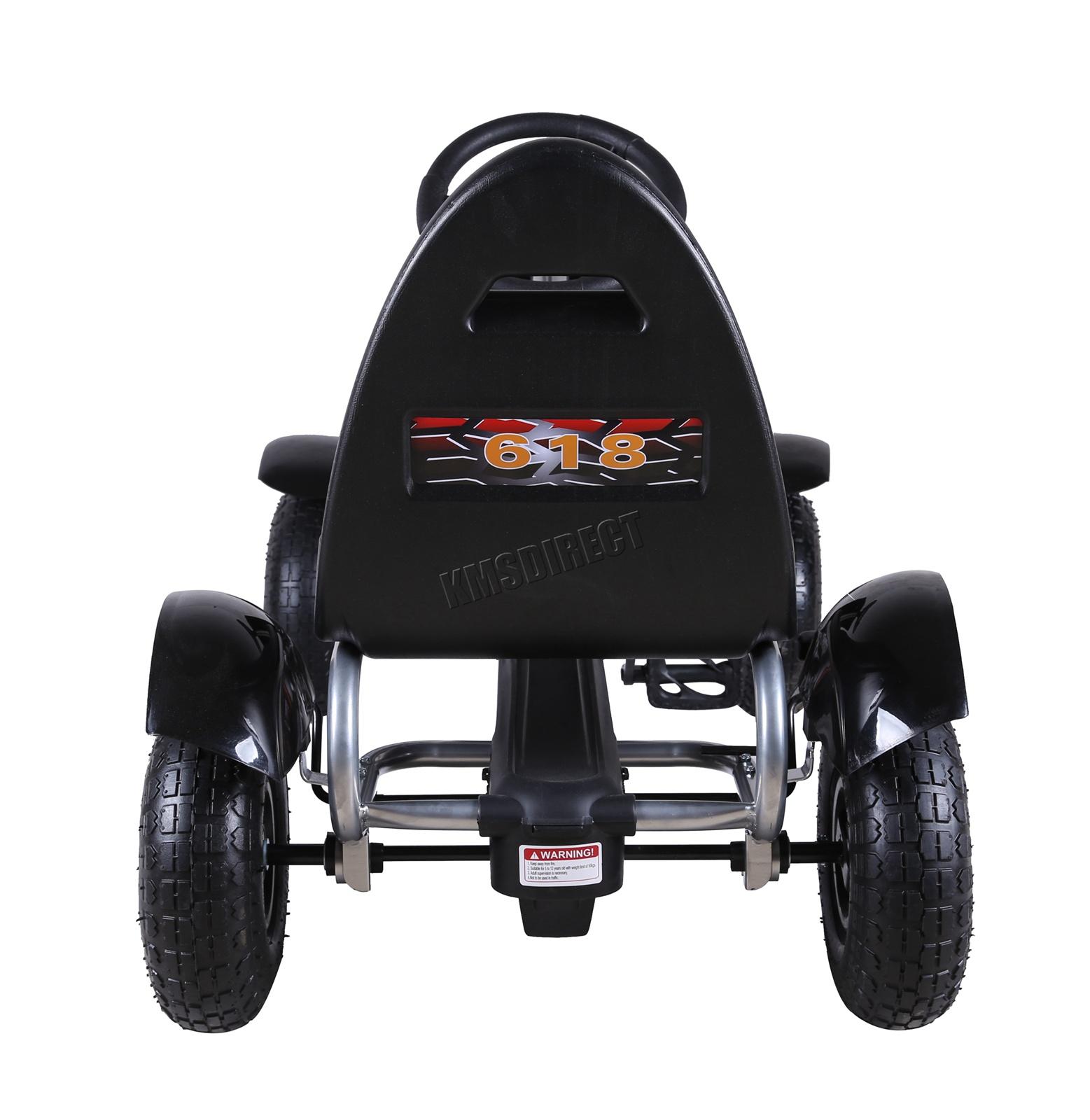 201701719267 2475 I 305 25 GOKART FH G03 BLACK KMSWM077 - Foxhunter Infantil Go Kart – Pedal Coche para Niños Gocart con Freno de Mano G03