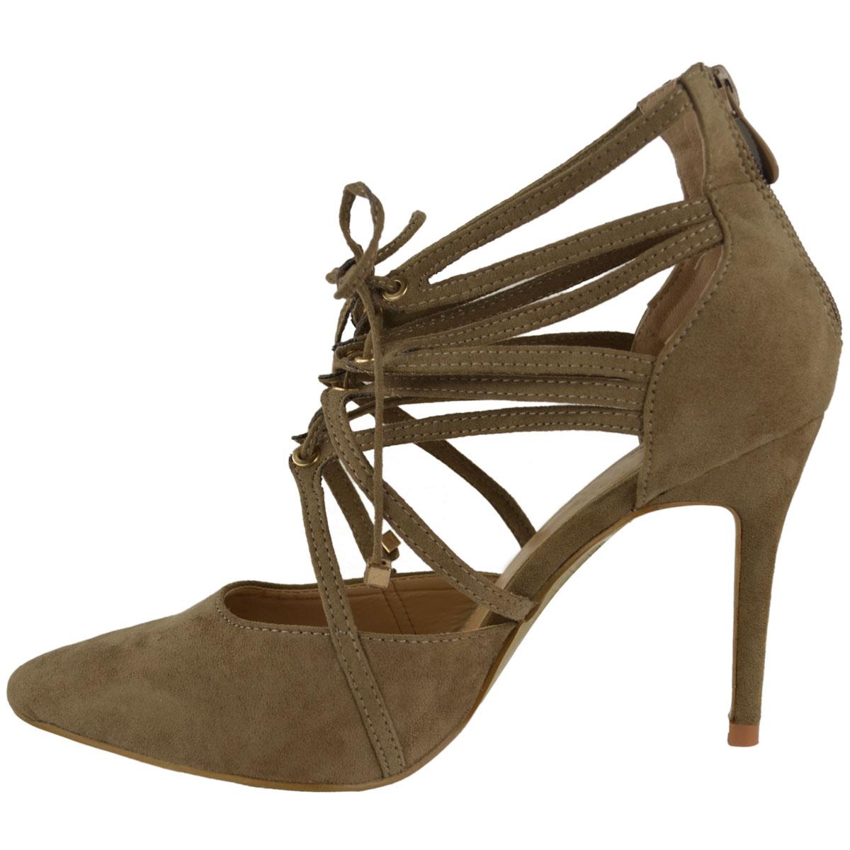 damen ausgeschnitten hoher absatz schuhe gladiator sandalen gr e ebay. Black Bedroom Furniture Sets. Home Design Ideas