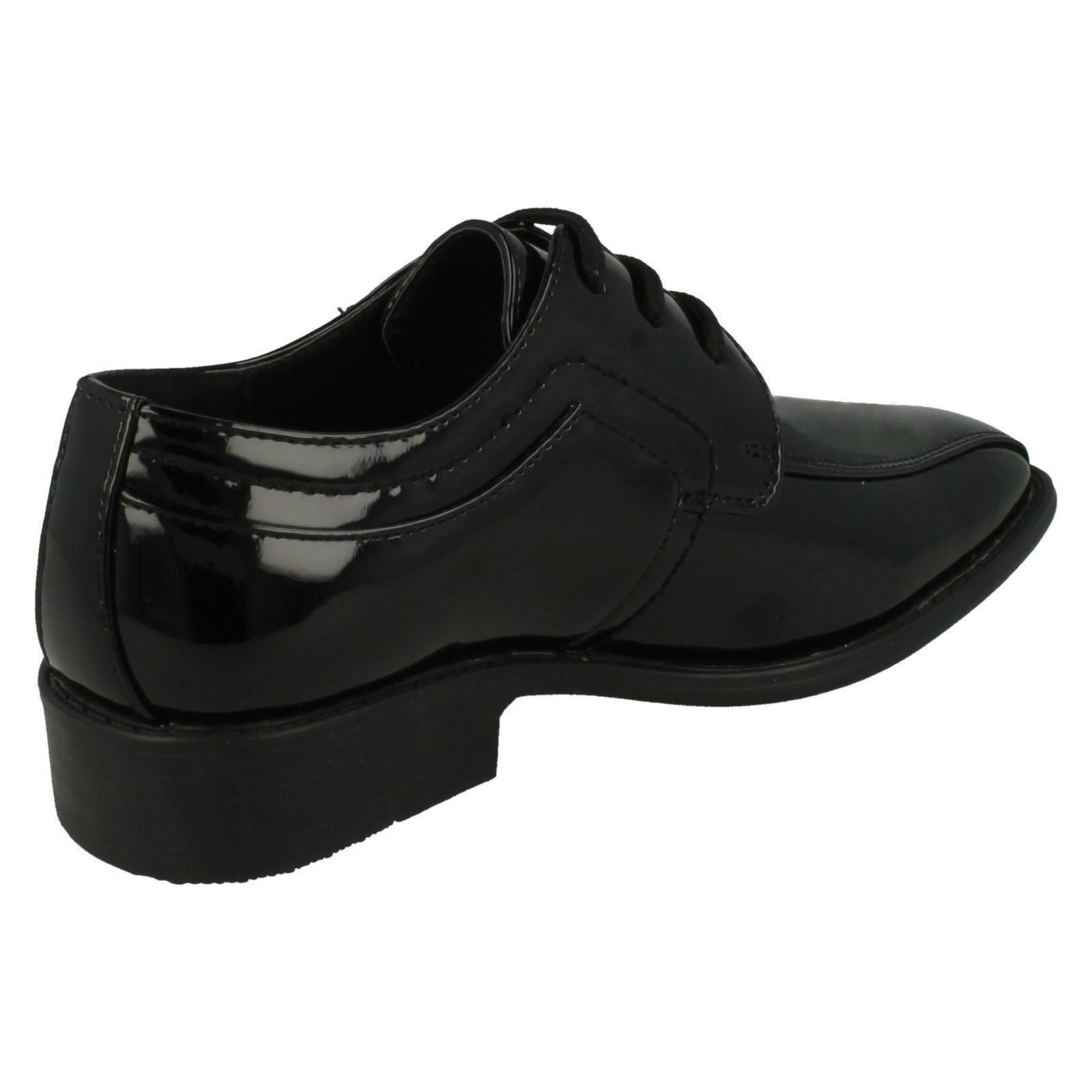 Boys JCDees Lace Up Formal Black Shoe N1111 Great Sale Price!