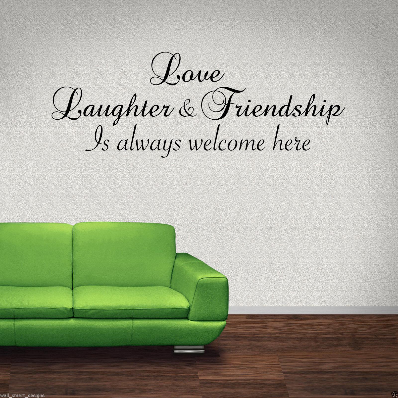 Amor-Laughter-AMIGO-adhesivo-pared-Pegatina-Mural-con-frase-para-salon-pegatinas