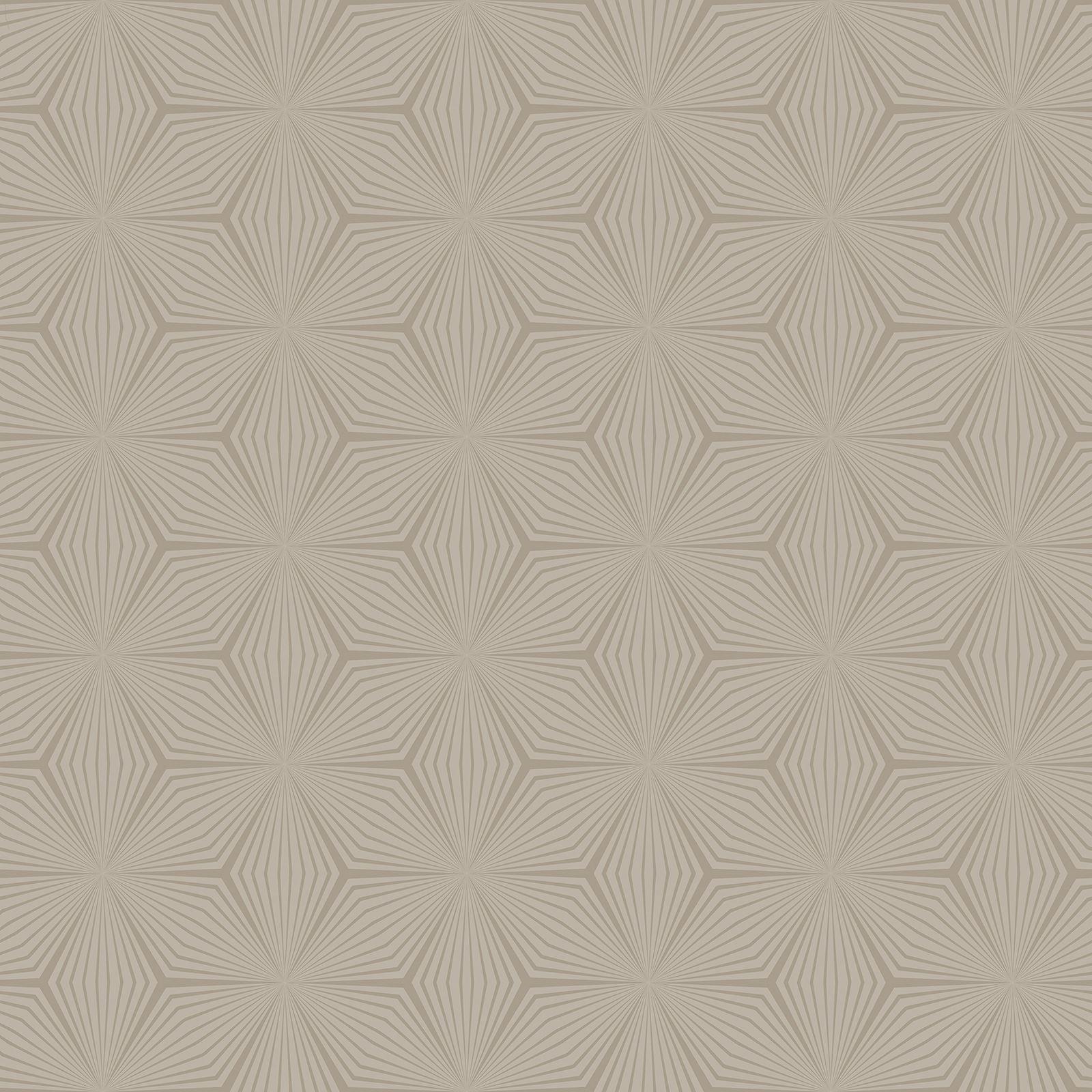 Holden decor geometrisch stern metallic matt tapete for Tapete schwarz silber