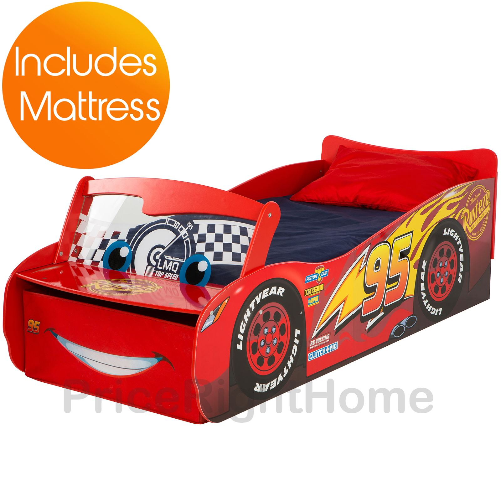 disney cars kleinkind bett mit lager aufleuchtend windschutzscheibe ebay. Black Bedroom Furniture Sets. Home Design Ideas