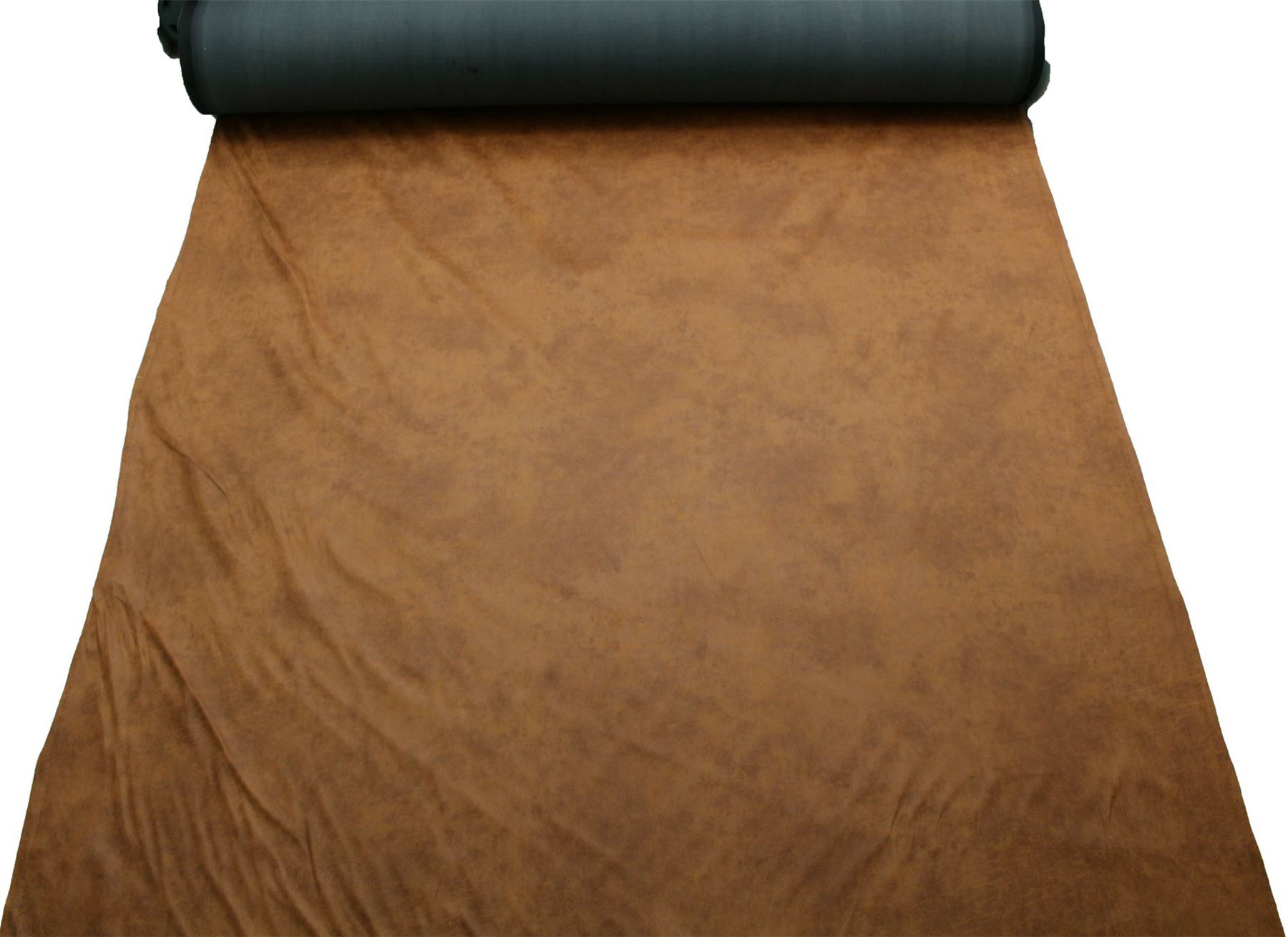 Aged Brown Distressed Antiqued Suede Faux Leather Leatherette