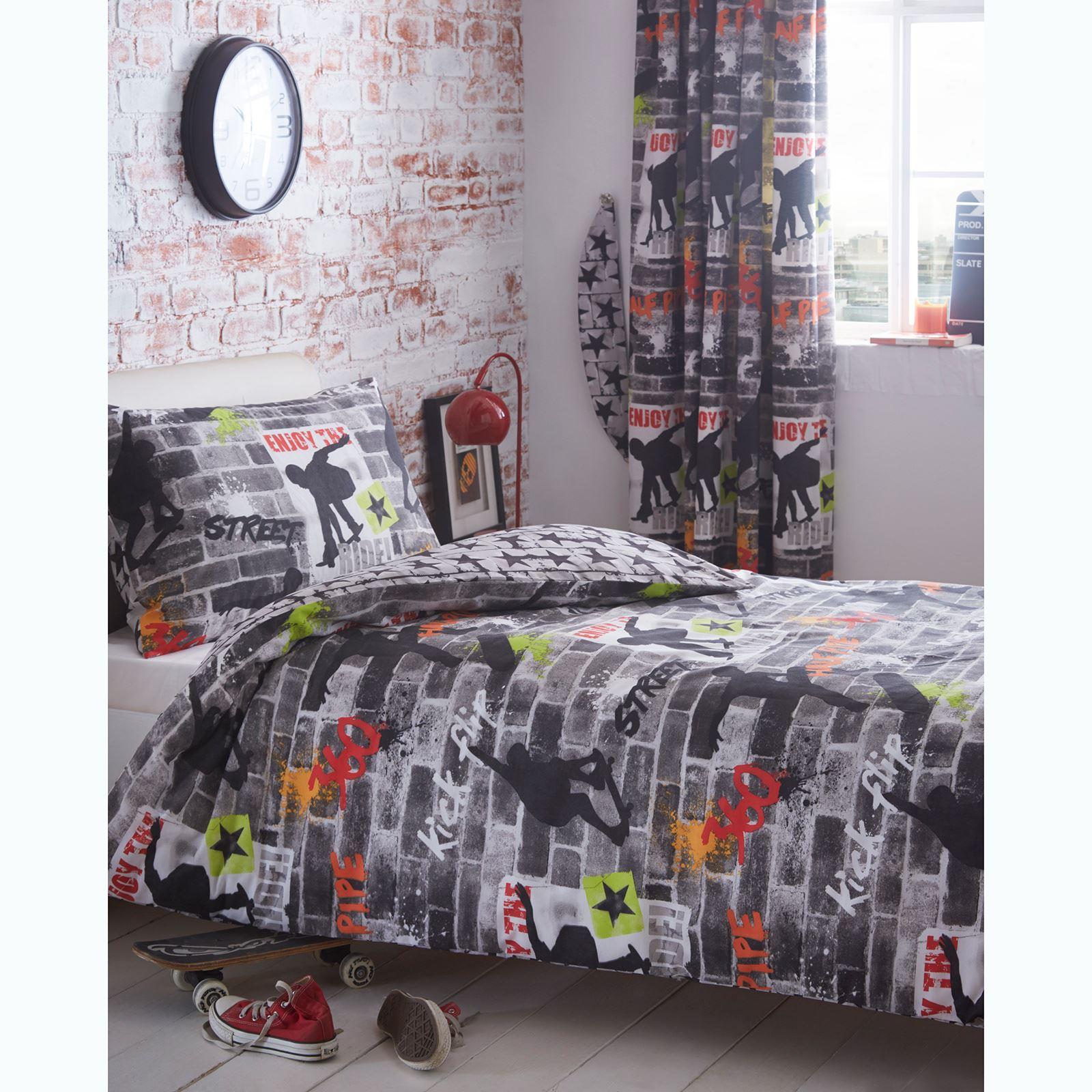 Indexbild 150 - Teenager Bettwäsche Sets - Einzel / Doppelbett Bettwäsche Jungen Musik Graffiti