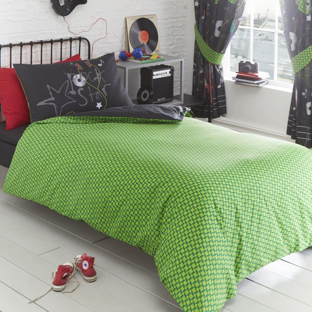 Indexbild 104 - Teenager Bettwäsche Sets - Einzel / Doppelbett Bettwäsche Jungen Musik Graffiti