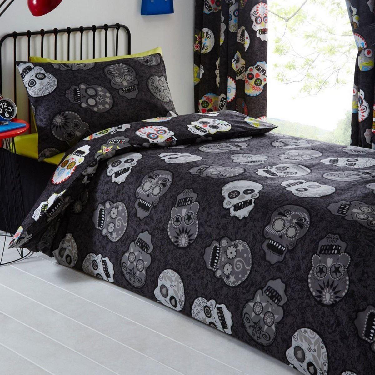 Indexbild 152 - Teenager Bettwäsche Sets - Einzel / Doppelbett Bettwäsche Jungen Musik Graffiti