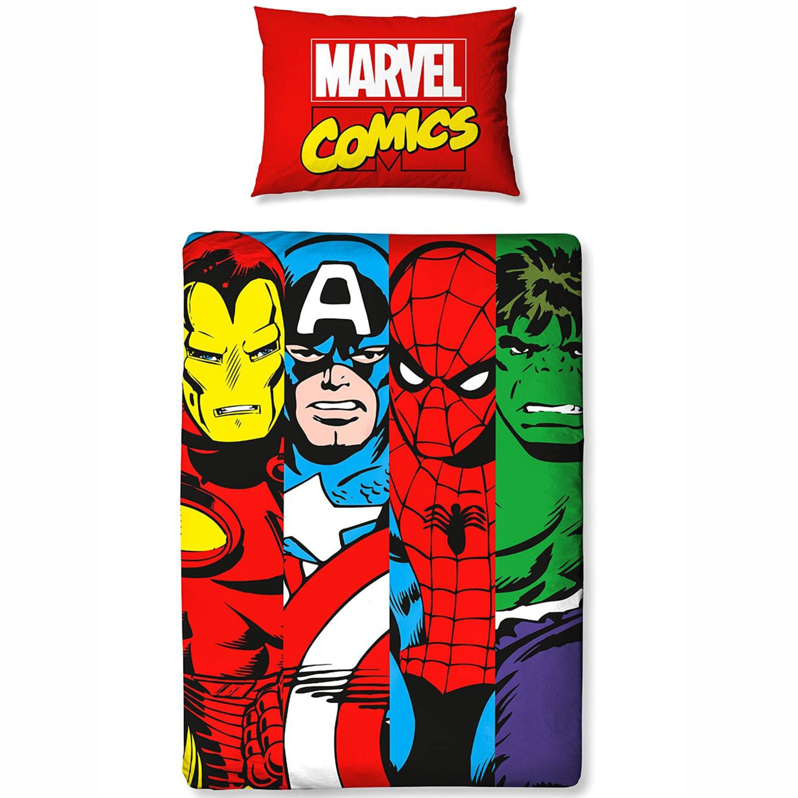 OFFICIAL-AVENGERS-MARVEL-BEDROOM-DUVETS-CURTAINS-CUSHION-BLANKET-CLOCK-amp-MORE