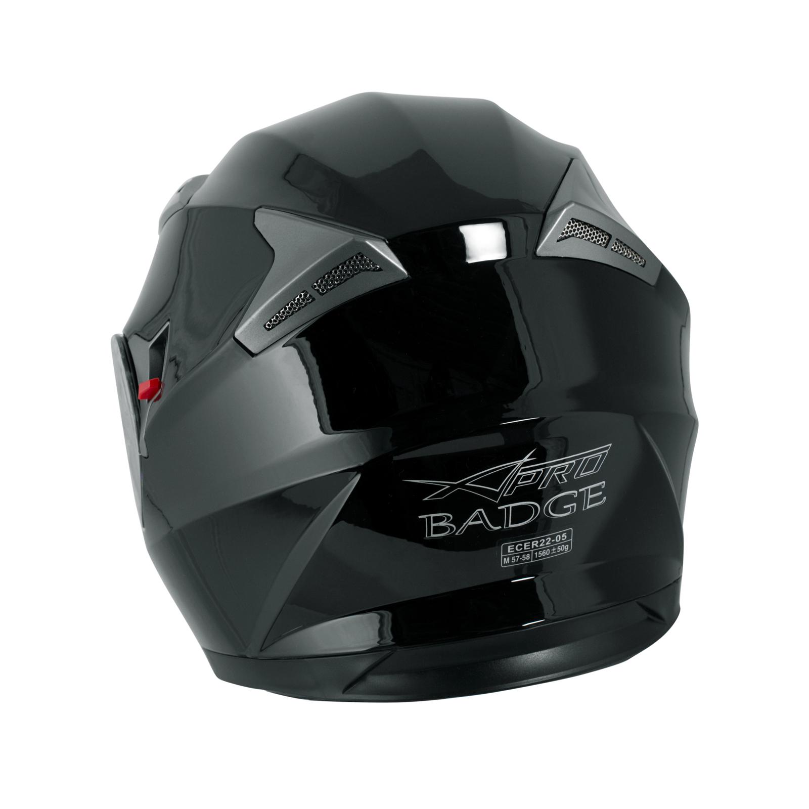 miniatura 7 - Integral-Helm-Motorrad-Roller-Sonnenblende-Touring-Schwarz