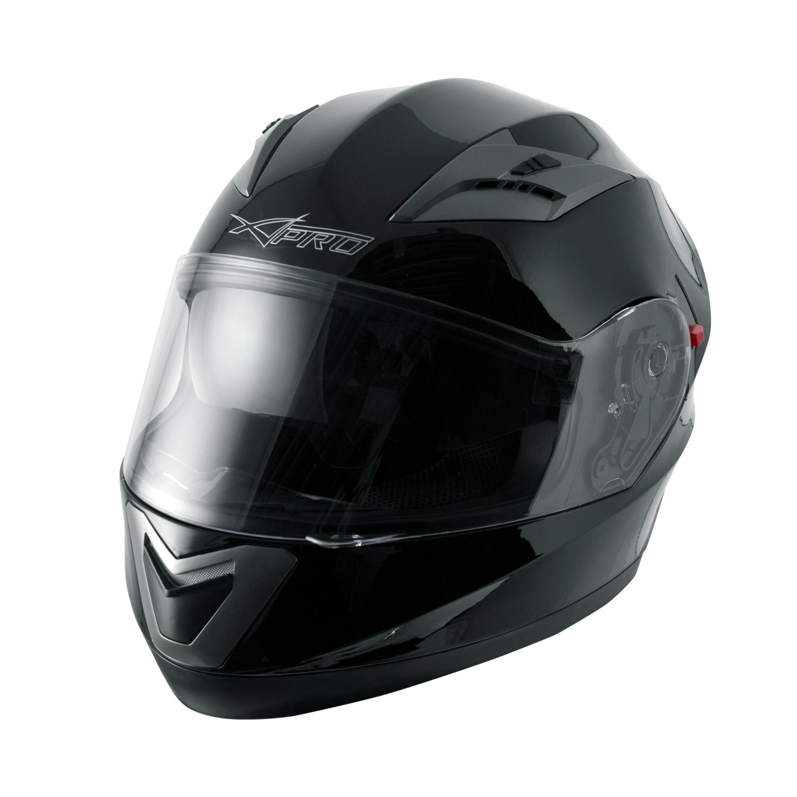 miniatura 5 - Integral-Helm-Motorrad-Roller-Sonnenblende-Touring-Schwarz