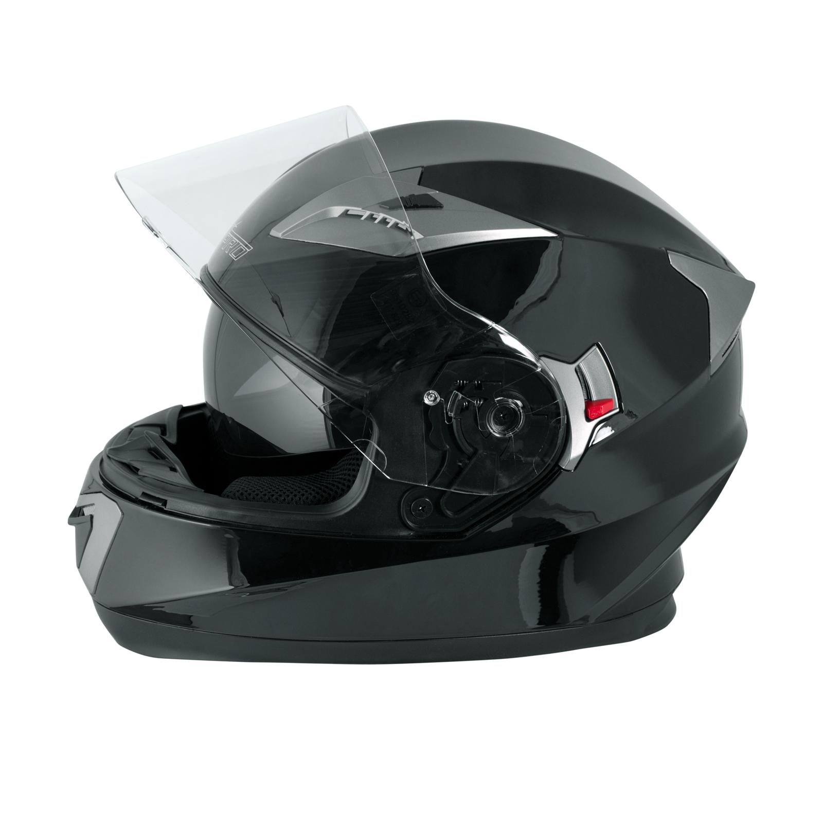 miniatura 6 - Integral-Helm-Motorrad-Roller-Sonnenblende-Touring-Schwarz