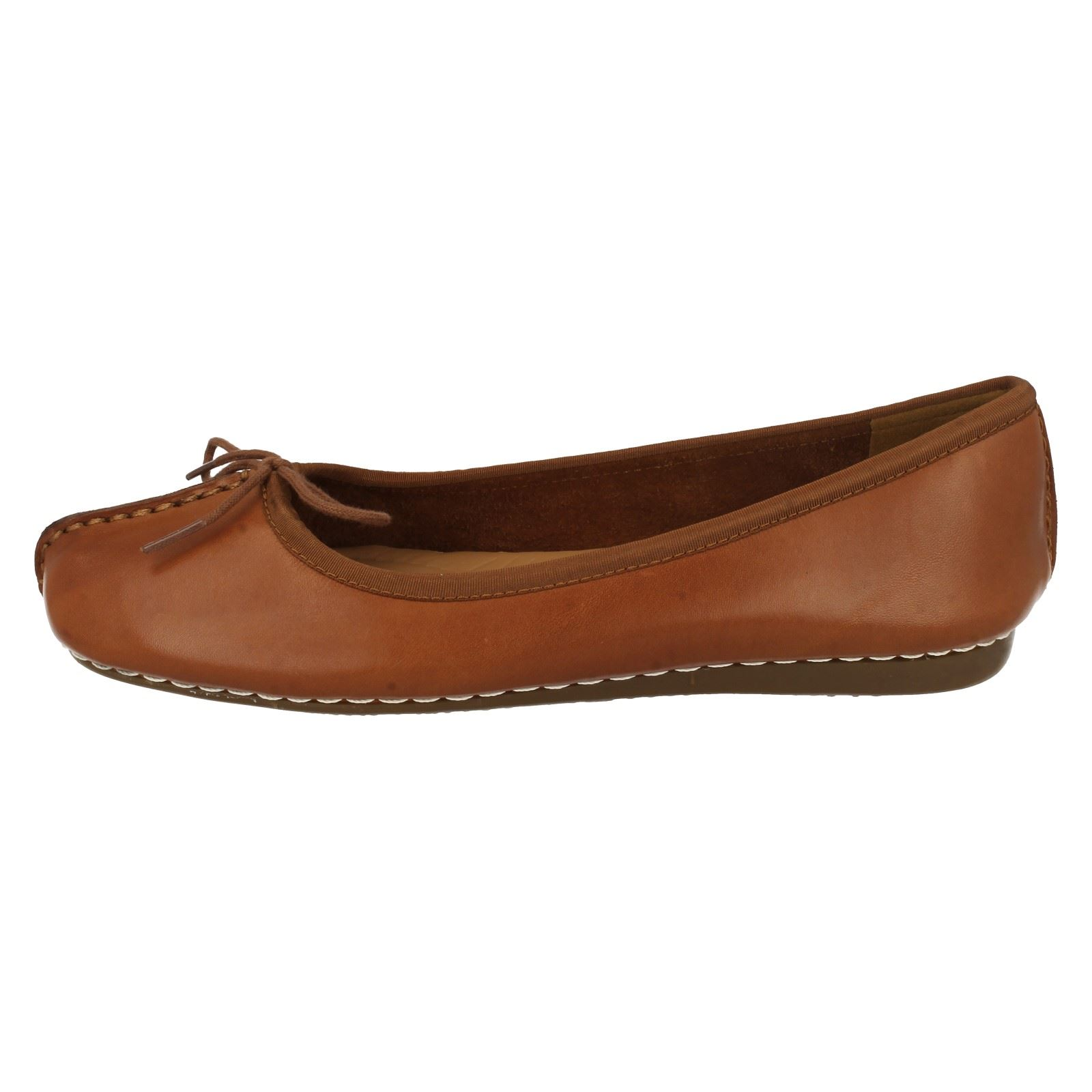 314416e4881ab Ladies Clarks Comfort Everyday Flats Freckle Ice Dark Tan D 10 for ...