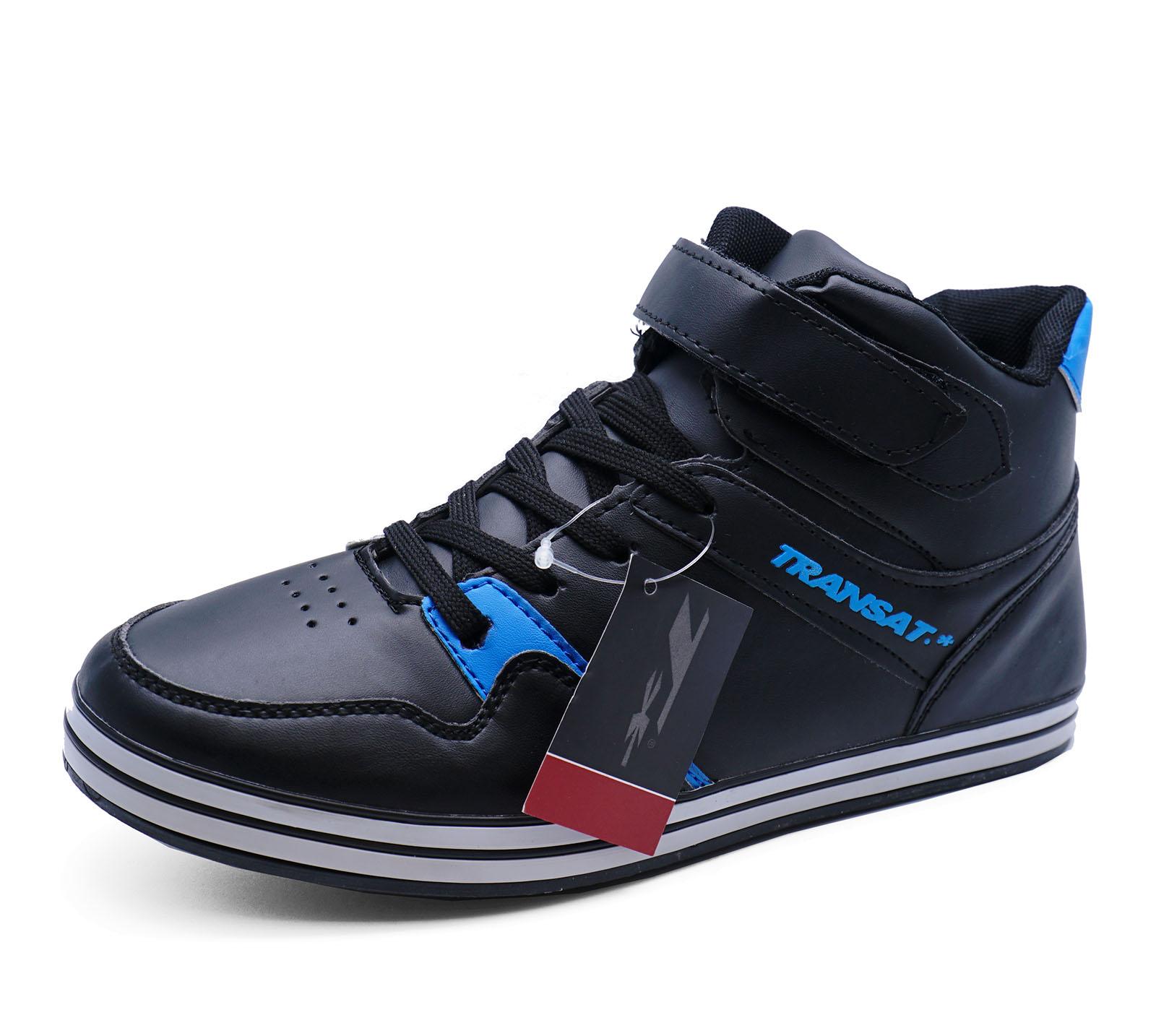 Herren schwarz zum Schnüren Turnschuhe Freizeit Pumps Stiefeletten Schuhe Größen